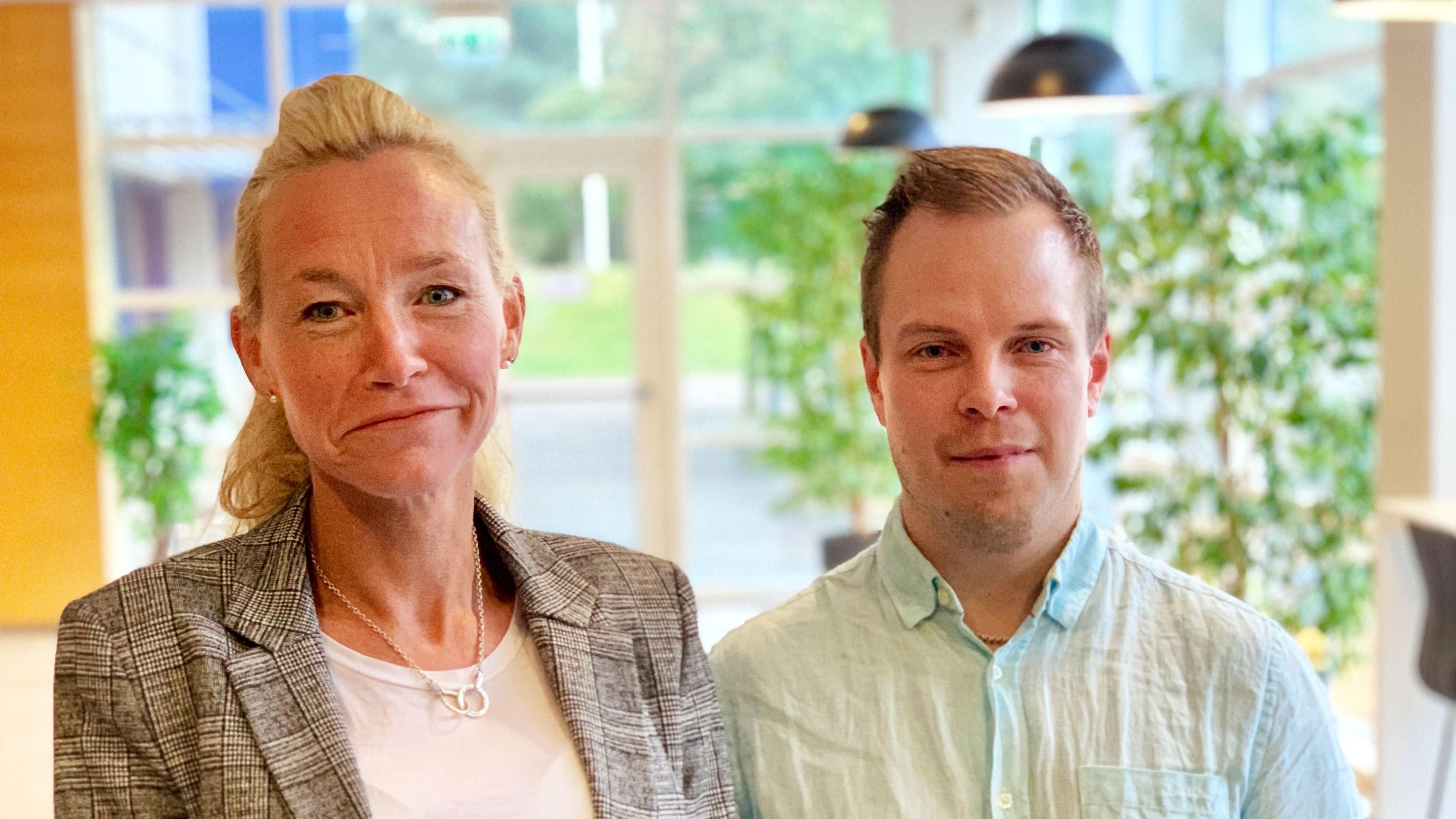 Ulrika Giers och Henrik Larsson